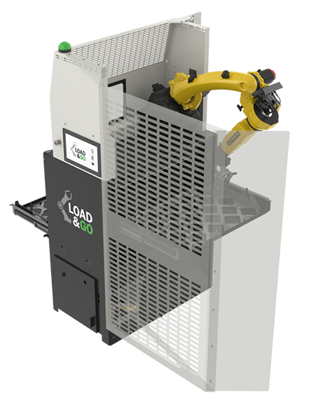 Automate lathe machine tending with the drawer cell system.